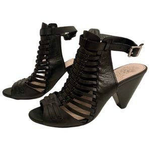 Vince Camuto Black Effel Heels - Size 7.5